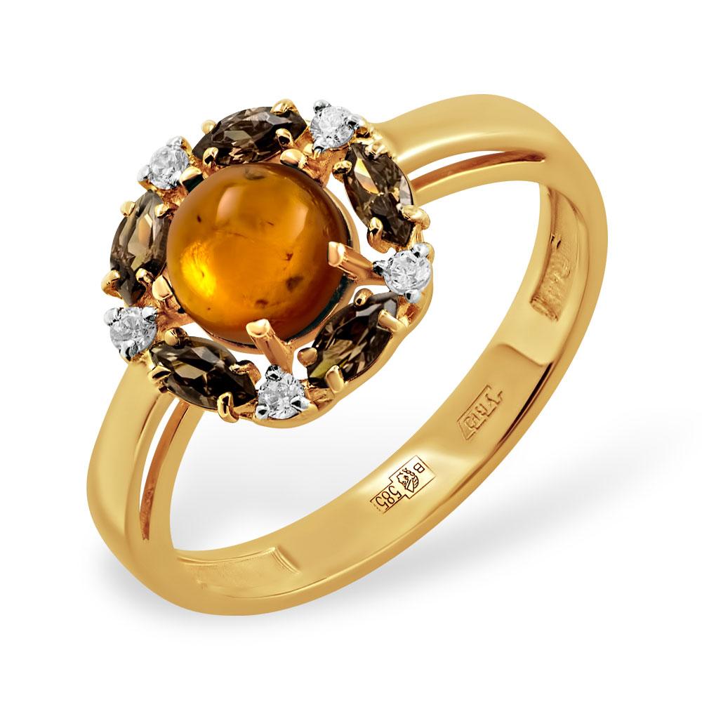 Золотые кольца с янтарем: купить кольца из золота 585-й пробы с янтарем в  гипермаркете Злато   1000x1000